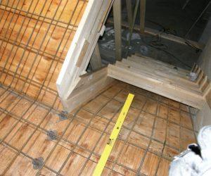 Støping av trapp
